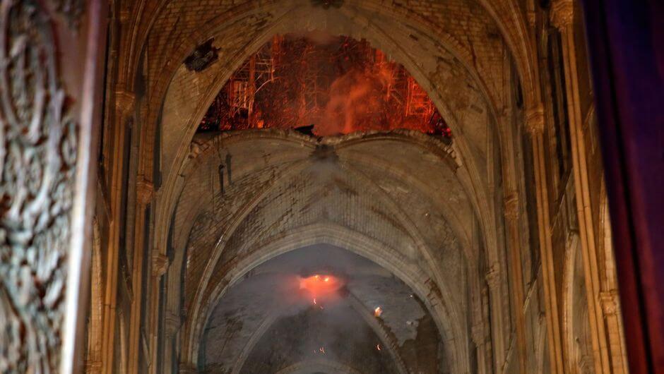 ¿Ya viste cómo quedó Notre Dame en su interior?