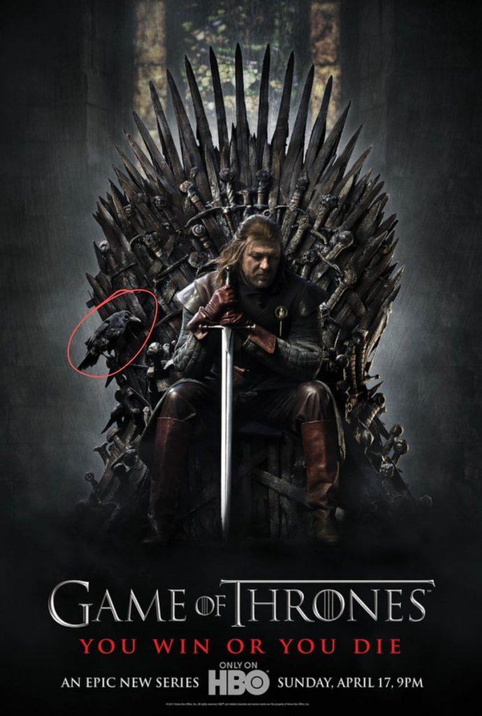 Internautas descubren que el póster de la primera temporada de 'Juego de tronos' predijo quién se convertiría en el rey de los Seis Reinos