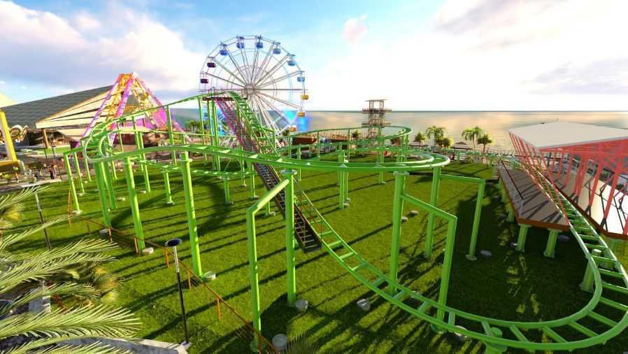 Así será el futuro parque de diversiones planeado en el proyecto Surf City para el malecón del Puerto de La Libertad